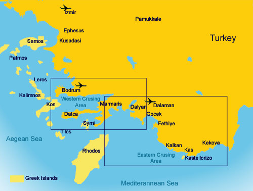 Turkish Coast Cruising Areas